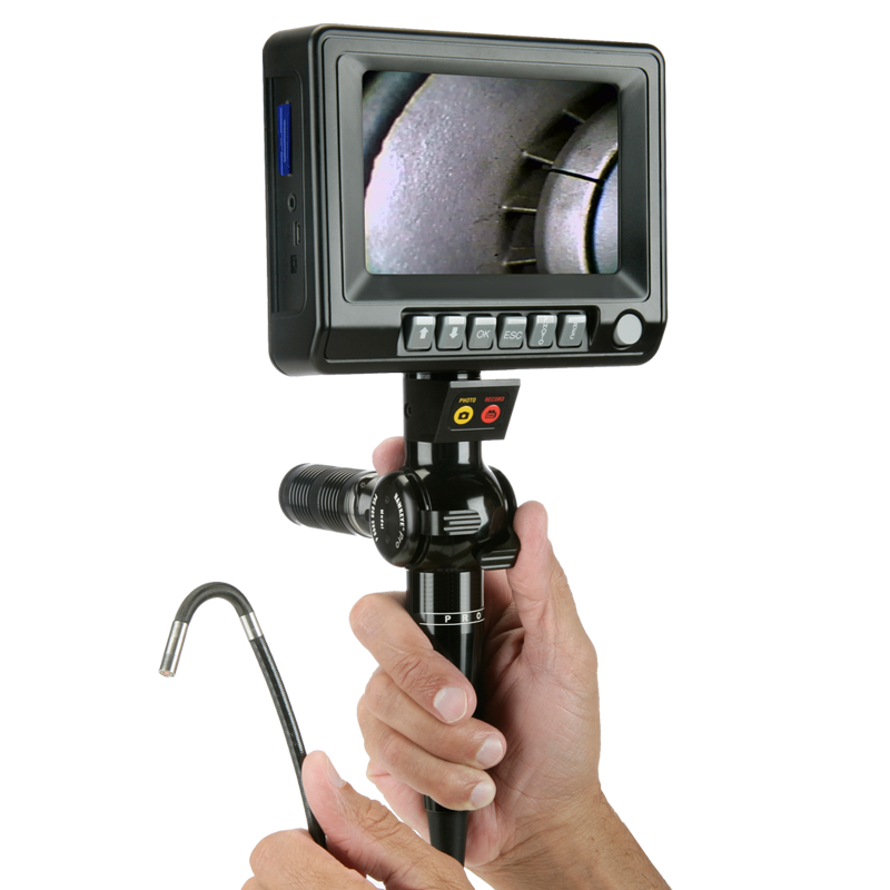 Industrial articulating video endoscope - VH2 industrial Video Borescope