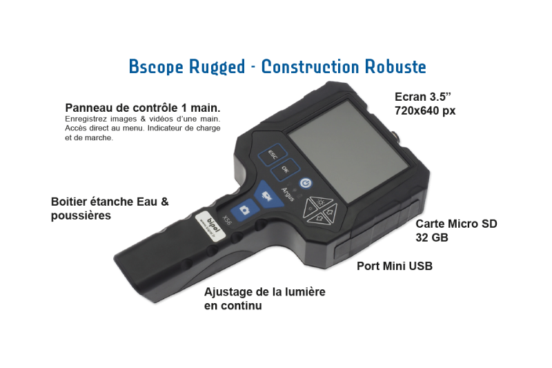 Videoscope Rugged - Vidéoscope tactique Rugged infrarouge
