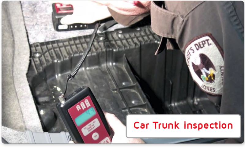 search for drug in car - K9 Density Meter