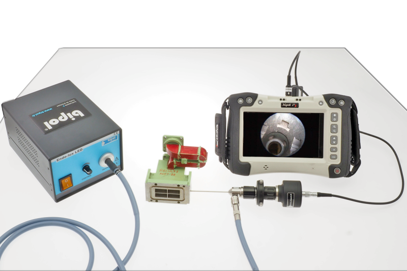 Video inspection on monitor with rigid endoscope - Ecofix Pro Ø 4.20 mm