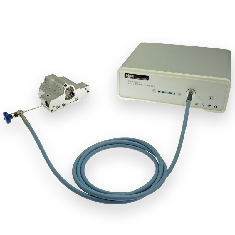 RIgid SV endoscope and LED light source - LED table light source BIPOL®
